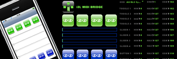 i3L MIDI BRIDGE for the iPhone
