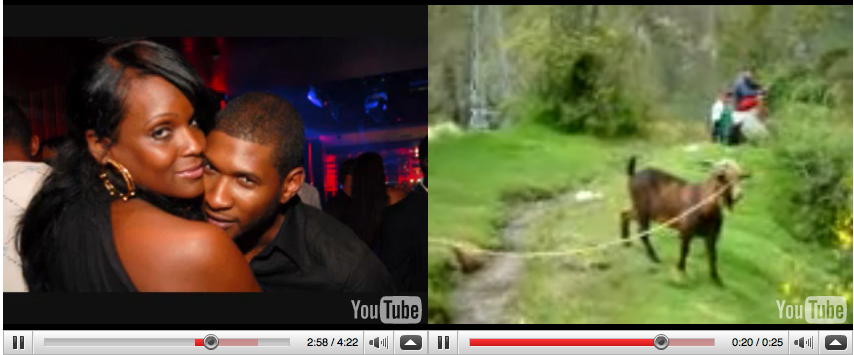 Usher vs Goat YouTube Doubler
