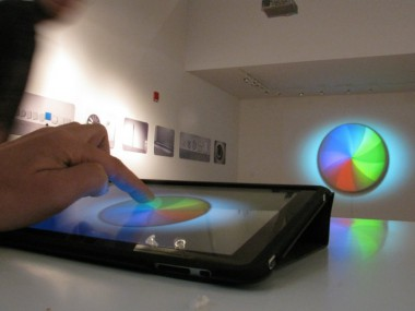 """Brian Kane, """"Waiting for Google"""" iPad Sculpture, Murphy and DIne Gallery NYC"""