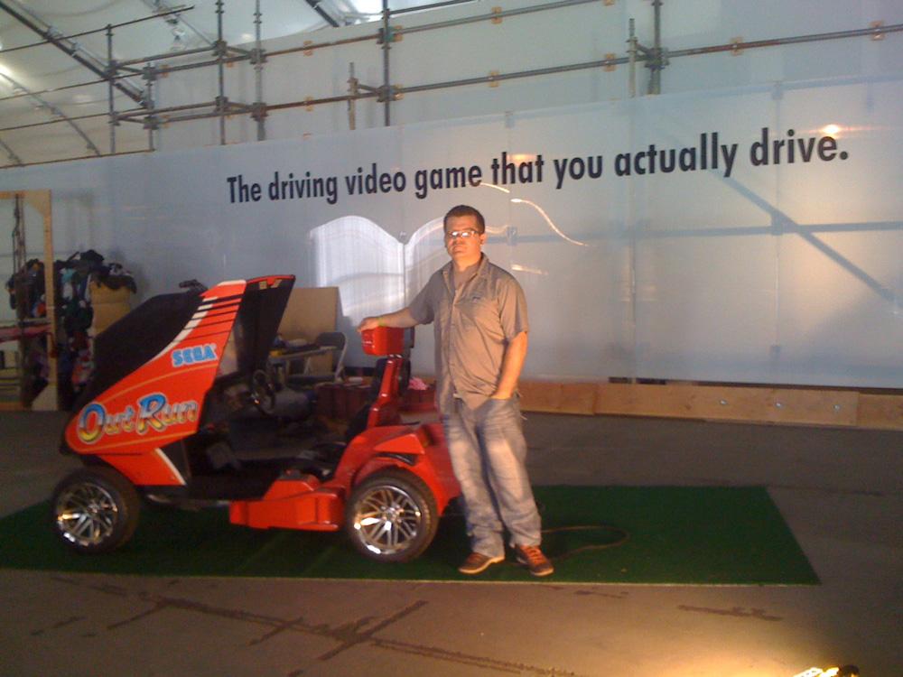 OutRun – The Video Game You Actually Drive – Garnet Hertz