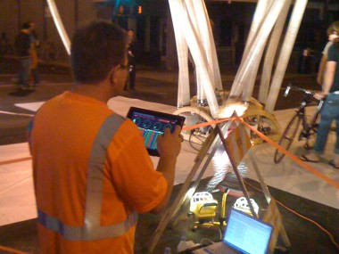 Inflatable Architecture – iPad control
