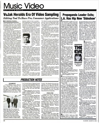 Vujak Billboard Magazine 1995
