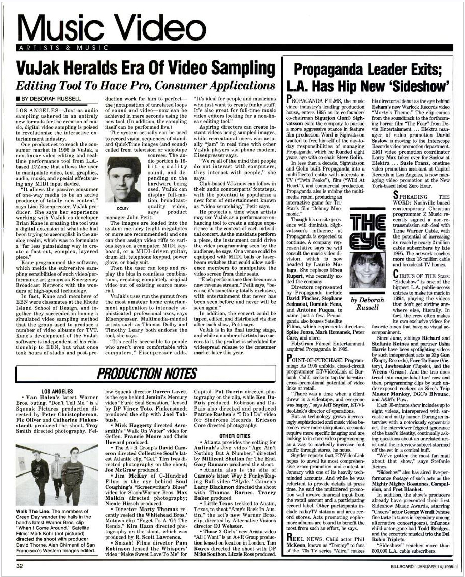 Vujak Billboard Magazine 1995